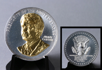President Carter Gold Embossed Medallion