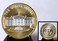 White House Gold Embossed Medallion