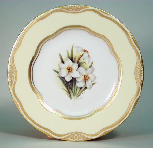 """Flowers of the First Ladies  Collection                                          Dessert Plate """"Narci"""