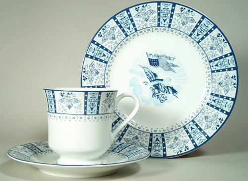Presidential Cup and Saucer Zachary Taylor