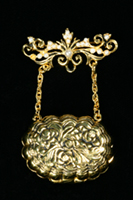Mary Todd Lincoln Handbag Locket Pin