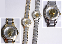Lady Liberty Two Tone Steel Band Watch