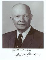 President Eisenhower B&W Photo with Signature