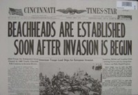 Reproduction Newspaper- Beachheads Established