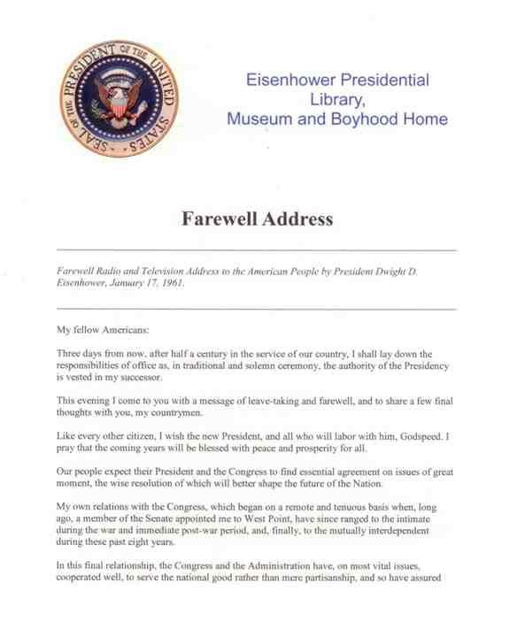 Ike's Farewell Speech