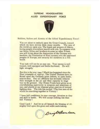 Order of the Day for June 6th, 1944