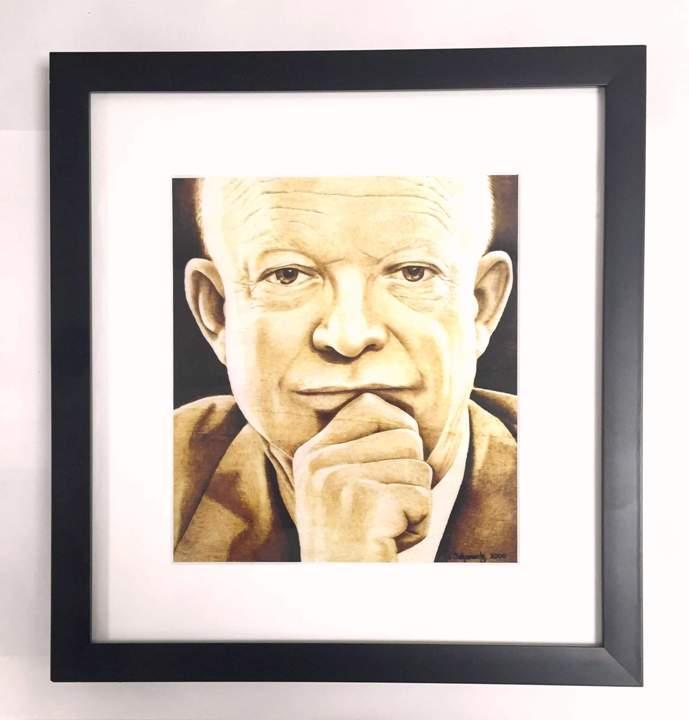 Ike Print by Jo Swartz- Framed