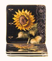Salad Plate Sq 8.25 in French Sunflower