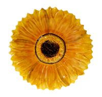 3-D Sunflower Platter