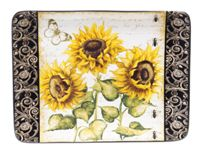 "Platter,Rectangular, 16"" x 12"", French Sunflowers"