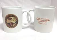 Chisholm Trail / Eisenhower White Ceramic Mug