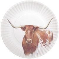 Longhorn Melamine Plates (4)