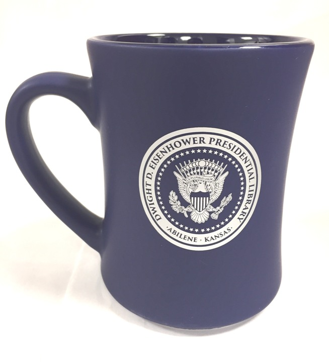 Cobalt Mug with Presidential Seal and Signature