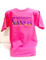Kansas Symbols T-Shirt, Bright Pink