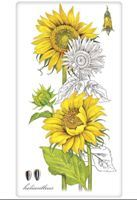 Botanical Sunflowers Towel