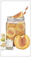 Peach Iced Tea Towel