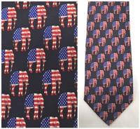Republican Elephant Flag Neck Tie