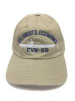 USS Eisenhower Ball Cap- Khaki