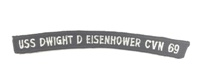 USS Eisenhower Rocker Tab