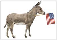 Donkey Democrat Towel