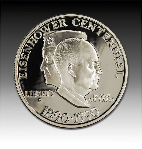 Eisenhower 1990 Centennial Proof Coin in Case