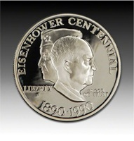 Eisenhower 1990 Centennial Proof Coin in Case