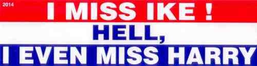 I Miss  Ike Bumper Sticker