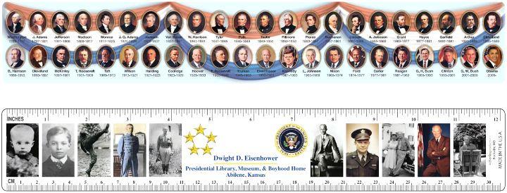 Eisenhower/Presidents Custom Ruler