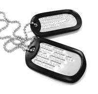 World War II Style Dog Tag Set-