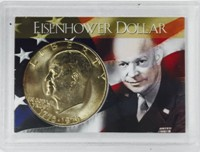 Eisenhower Dollar Coin in Plastic Case