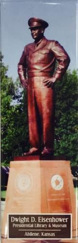 Ike Statue Photo Magnet
