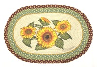 "Sunflowers Oval Rug 20""x30"""