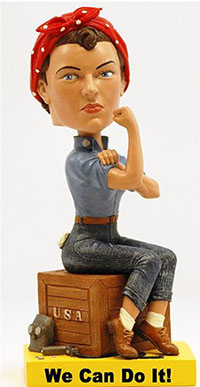 Rosie the Riveter Bobble