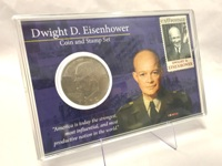 Dwight D. Eisenhower Coin & Stamp Set