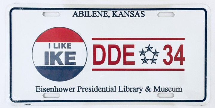 I Like Ike Auto License Plate