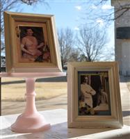 Ike & Mamie Wedding Photo w/ Pressed Flowers 5x7 Framed