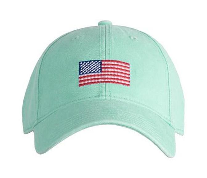 Embroidered Flag Cap, Mint