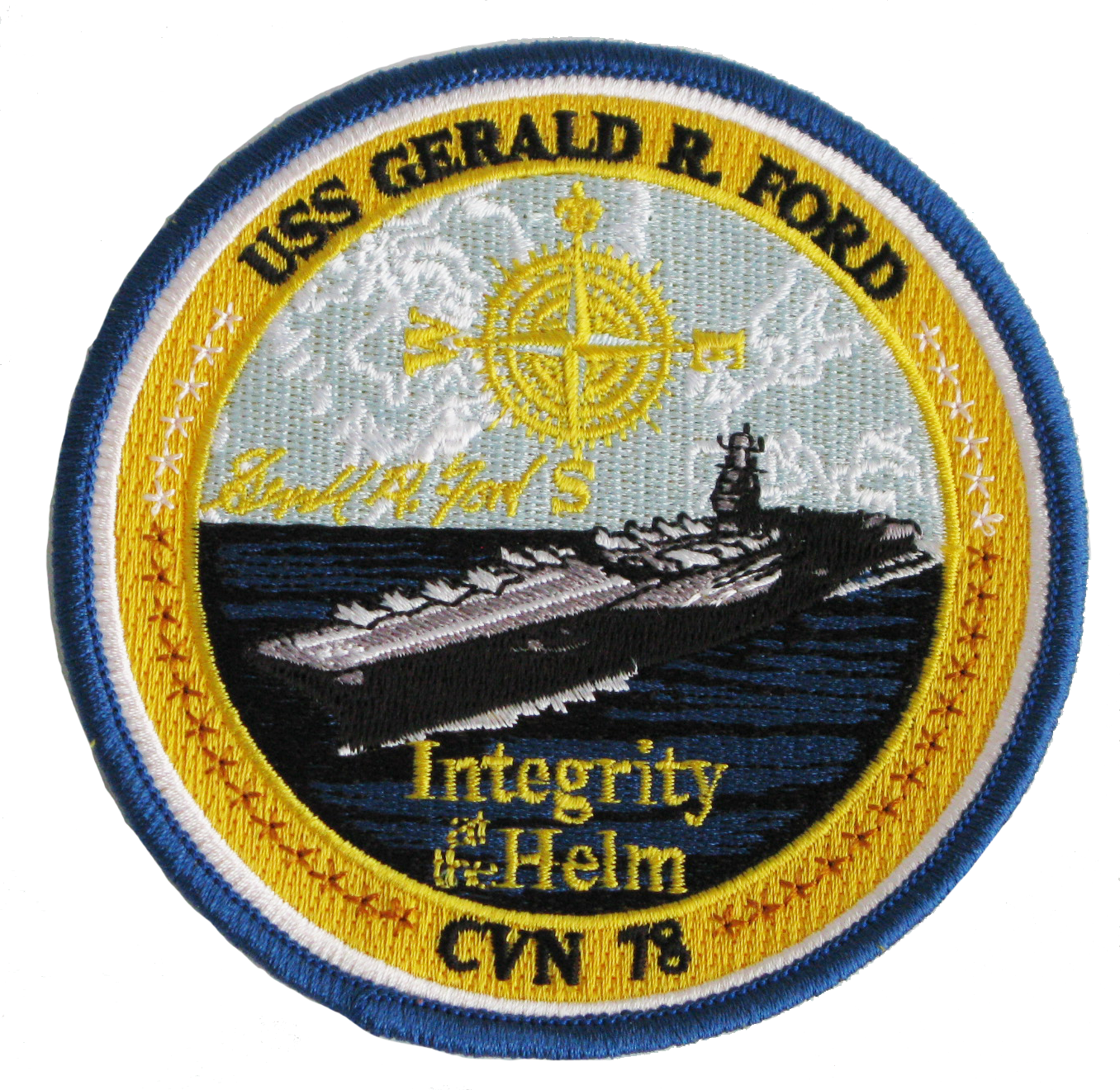 USS Gerald R. Ford CVN 78 Carrier Patch
