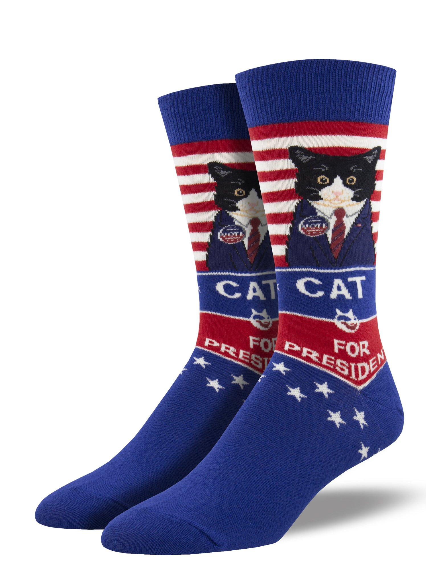 Cat for President Socks, Men's