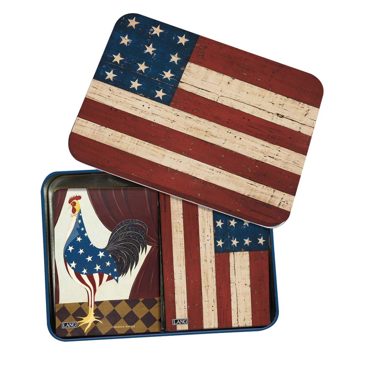 American Flag Playing Cards Tin
