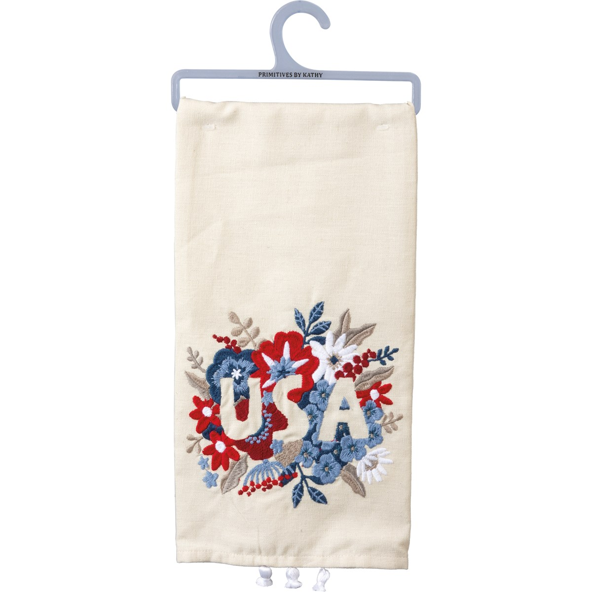Floral USA Dishtowel