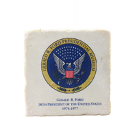 Coaster, Pres. Seal with Museum