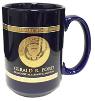 Mug, Ford, Blue w/ Gold