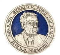 Gerald R. Ford 38th President Pewter Challenge Coin