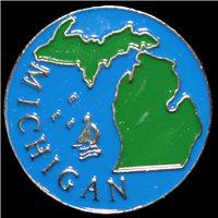 Michigan Enamel Lapel Pin