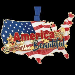 Patriotic America Ornament Made in USA