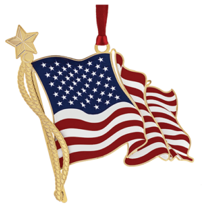 American Flag Ornament Made in USA!