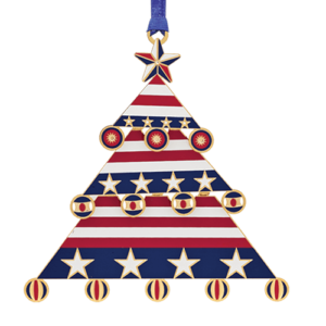 Americana Christmas Tree Ornament Made in USA!