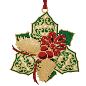 Elegant Holly Ornament