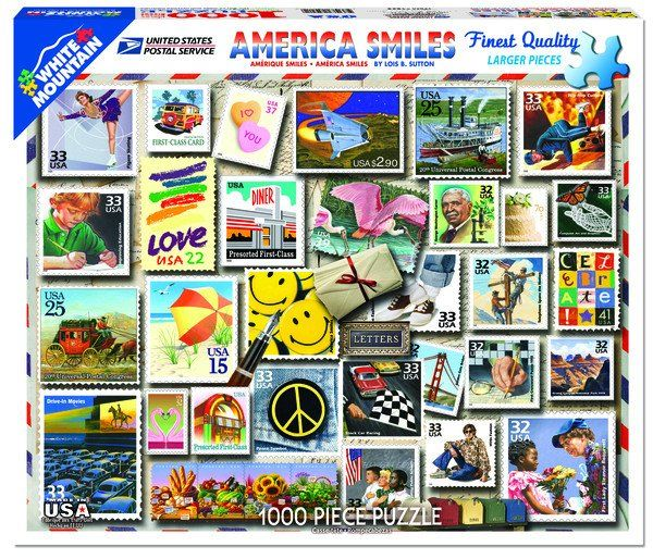 America Smiles Stamps Puzzle 1000pc
